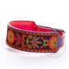 DG collar with ribbon Garden purple S