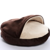 DG COMFY cave orhopedic dog bed  DARK CHOCOLATE