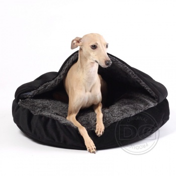 DG COMFY cave orhopedic dog bed  BLACK