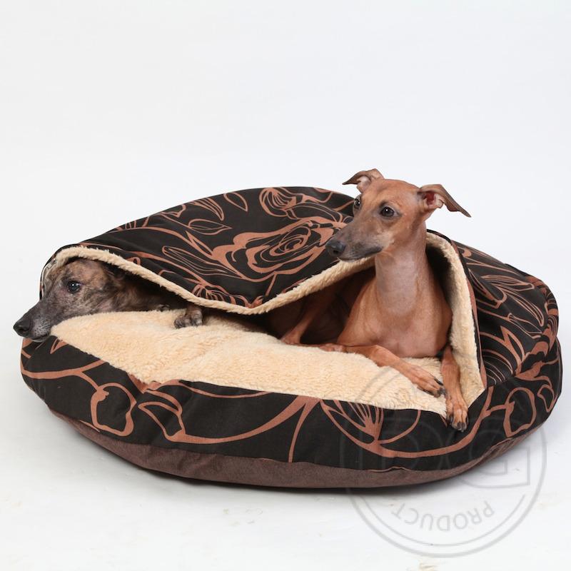 dg comfy cave orhopedic dog bed luxury